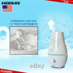 2.2L Ultrasonic Home LED Aroma Humidifier Air Diffuser Purifier Air Atomizer
