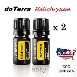 2 x doTERRA Helichrysum Essential Oil 5ml (New & Sealed) + FREE US Shipping