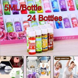 24x (12 Scent) Essential Oil Home Fragrance Set For Air Diffuser Aromatherapy US