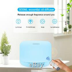 Aroma Diffuser EssentialOil Air Humidifier Mist Purifier Remote Control 7 Light