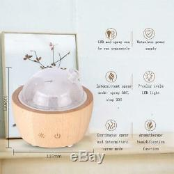 Aroma Diffuser Solid Wood Glass Essential Oil Mist Ultrasonic Fragrance Aromathe