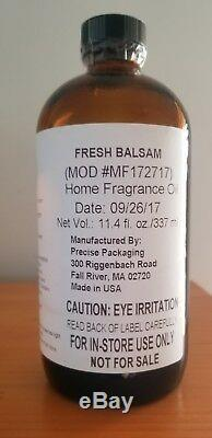 Bath And Body Works 11.4 OZ FRESH BALSAM Home Fragrance Oil LOOK