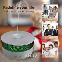 COOSA Diffuser of Oils Essential with Speaker Bluetooth LED Ultrasonic Spa