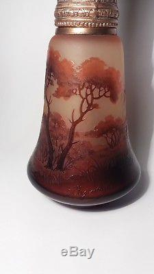 Divine and Very Rare Art Nouveau LAMPE BERGER Signed DARGENTAL