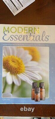 DoTerra Essential Oils Set, Bamboo Case, Car Diffuser, and Essential Oils Guide