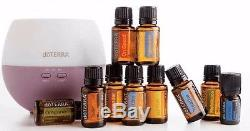 DoTerra Home Essentials Kit Lot 10 (15ml) Essential Oils and Diffuser
