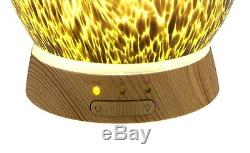 Dragon Egg Aromatherapy Essential Oil Diffuser Ultrasonic Purifier Amber Glass