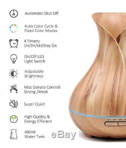 Essential Oil Aromatherapy Diffuser Cool Mist Humidifier 400 ml 7 colors USA