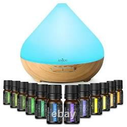 Essential Oils Diffuser Set Ultrasonic Aromatherapy 3-in-1 Home Office Cool Mist