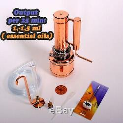 Essential oil distiller 2 L Small steam distillation Kit Regular column 0,74 l