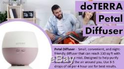 FREE POST doTERRA Petal Diffuser + Introductory Kit Essential Oil Aromatherapy