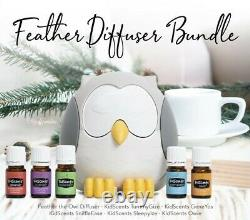 Feather the Owl Ultrasonic Diffuser Bundle by Young Living