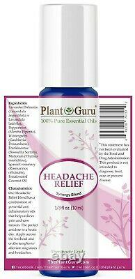 Headache Relief Essential Oil Roll on Blend For Migraine Tension Aromatherapy