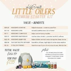 KidScents Little Oilers Premium Starter Kit FREE Mbrsp Feather the Owl Diffuser
