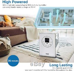 Levoit Humidifier for Home Bedroom 6L, Warm & Cool Mist Essential Oil Diffuser