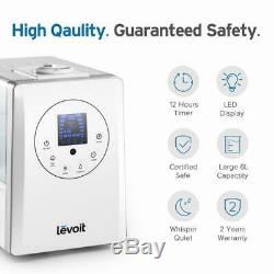 Levoit Humidifiers for Home 6L, Warm & Cool Mist Essential Oil Diffuser