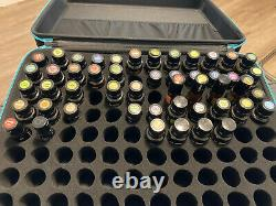 Lot of 50 doTERRA Essential Oils including Padded Travel Case Read Description