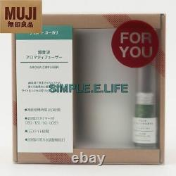Muji Aroma Diffuser + Lime & Eucalyptus Essential Oil Blend Set With Tracking