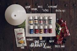 New Young Living Premium Starter Kit Diffuser +11Essential Oils + Free shipping