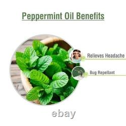 Peppermint Oil 100% Natural Pure Undiluted Uncut Essential Oil 10ml To 500ml