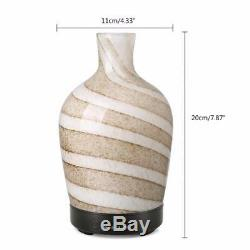 Quiet Humidifier Aroma Therapy Glass Essential Oil Diffuser Elegant Designs Led