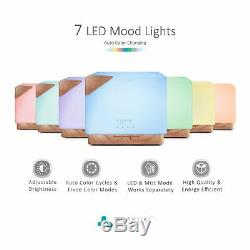 Square Aromatherapy Essential Oil Diffuser Humidifier Fragrant Oil Vaporizer Air