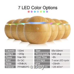 USB 7 Color LED Humidifier Aroma Mist Air Essential Oil Diffuser Ultrasonic US