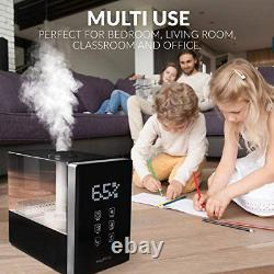 Ultrasonic Air Humidifier Cool Mist Essential Oil Diffuser 6L Large Capacity