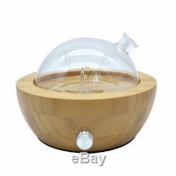 Ultrasonic Bamboo And Glass Essential Oil Aroma Nebulizing Diffuser, Aromatherapy