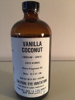 Vanilla Coconut Home Fragrance Oil 16 0z. Concentrated from Bath & body works