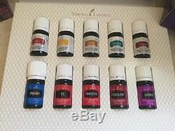 YOUNG LIVING Premium Starter Kit 10 Essential Oils & DEWDROP Diffuser EXCELLENT