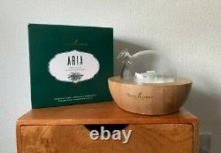 Young Living ARIA Diffuser GREAT CONDITION Glass/Wood Essential Oil Diffuser