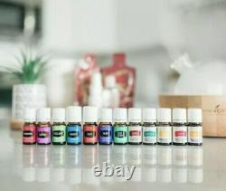 Young Living Aria Diffuser + 12 Essential Oils Starter Kit + Membership