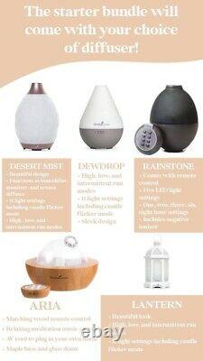 Young Living Aria Maple Ultrasonic Diffuser + Essential Oil Wellness Bundle NEW