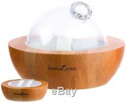 Young Living Aria Ultrasonic Diffuser Essential Oils Remote, LED Lights, Music