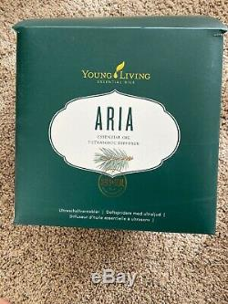 Young Living Aria Ultrasonic Diffuser for Essential Oils LED Lights, barely Used