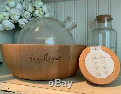 Young Living Aria Ultrasonic Essential Oil Diffuser Glass dome BRAND NEW IN BOX