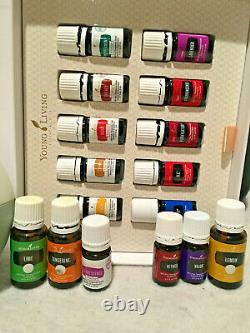 Young Living Essential Oil Kit withDiffuser Lot Some new and some barely used