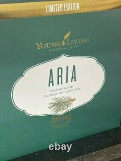 Young Living Essential Oils 4524 White Aria Ultrasonic Diffuser