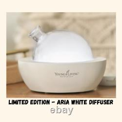 Young Living Essential Oils ARIA Ultrasonic Diffuser NIB! LimIted Edition White