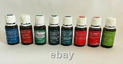 Young Living Essential Oils Aromatherapy LOT 23 oils, roller bottles, case