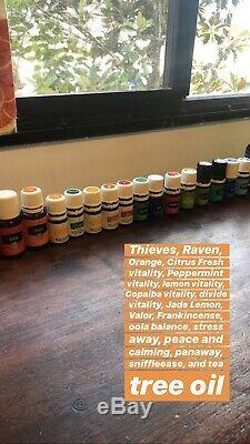 Young Living Essential Oils Full & Half Full Bottles LOT DIFFUSER INCLUDED