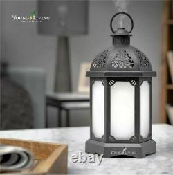 Young Living Gray Charcoal Lantern Diffuser with Free Oils Sealed & New Limited