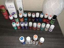 Young Living Oil Bundle (Unopened And Open Bottles, Products And Diffuser)