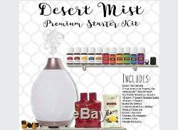 Young Living Premium Kit 11 Essential Oils DESERT MIST Diffuser FREE SHIP & GIFT