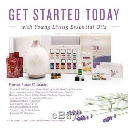 Young Living Premium Starter Kit 10 Essential Oils Dessert Mist Diffuser- Extras