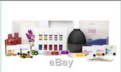 Young Living Premium Starter Kit 10 Essential Oils, Sample With Rainstone Diffuser