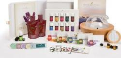 Young Living Premium Starter Kit 12 Essential Oils With Aria Diffuser 4 Books