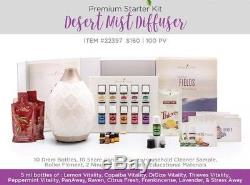 Young Living Premium Starter Kit with DESERT MIST Diffuser & 11 Essential Oils