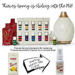 Young Living Premium Starter Kit with Desert Mist Diffuser 12 Essential Oils